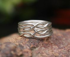 Puzzle Ring 6Band Sterling Silver Puzzle Turkish Wedding Band