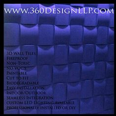 #a360design #design #LED #art #wallpanel #decor #homedecor #interiordesign #interiordesigners #seamless #3D Box Weave Design 3d Wall Tiles, 360 Design, Biodegradable Products, 3 D, Weave, Interior Design, Home Decor, Nest Design, Decoration Home