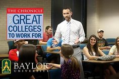 """For the third straight year, #Baylor University was named one of the country's """"Great Colleges to Work For"""" by The Chronicle of Higher Education, one of just 42 such schools in the nation. #SicEm"""