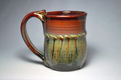 stoneware pottery 10oz mug by DrostePottery on Etsy