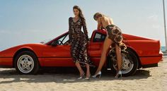 Here's What Happens When Vintage Supercars Hang Out With Lingerie Models. Agent Provocateur strikes again.