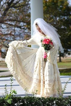 Custom Couture Bridal Wedding Coat- Upcycled Sweater Coat with a Medieval Liripipe Hood and Bell Sleeves by SnugglePants on Etsy $899
