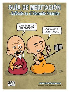 AFICHE ZENTOONS 06. Guía de Meditación. #zentoons #webcomics #zencomics #cuentoszen #historiaszen #zenpencil #espiritualidad #zen #budismo