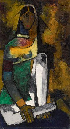 "Maqbool Fida Husain's ""Untitled (Woman)"" | Sotheby's"