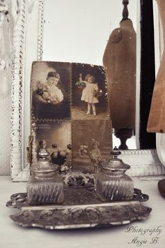 Love the colors and making old family photos part of the decor