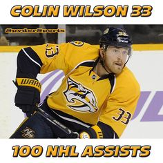 Colin Wilson Reaches 100 NHL Assists   Spyder Sports Lounge