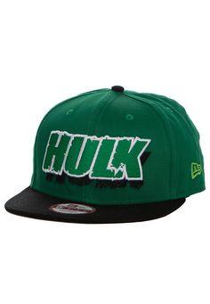 New Era - Avengers Logo Hulk Black/Green Snapback - Cap