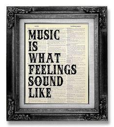 Muziek muur citaat, muziek muur zeggen, kunst aan de muur muziek, ROCK muziek kunstmuziek Poster, cadeau voor de muziekliefhebber Man hem, muziek kamer Decor Rock n Roll