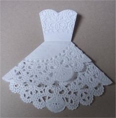Doily Dress Tutorial - perfect for a bridal shower. http://thegardeningcook.com/best-diy-projects/best-diy-projects-page-2/