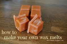 Make your own homemade wax melts!! Sooo much cheaper than Scentsy!!! This would also be a wonderful Christmas Gift for those on your list!! Find the candles on clearance and save even more!!!!