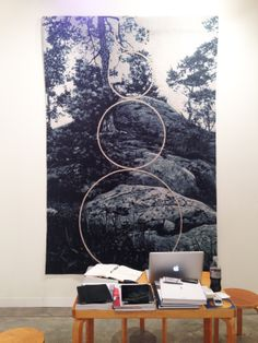This Claudia Wieser tapestry beautifully blends traditional and modern.