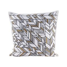 Golden Arrows pillow With Goose Down Insert - 8906-003