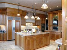 Kitchen Cabinets Cherry Wood light cherry cabinets kitchen |  light maple flooring and