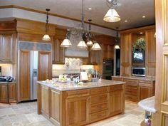 Natural Cherry Kitchen Cabinets   Description: Natural Cherry Wood Kitchen  Cabinetry