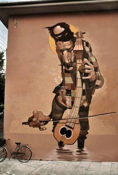 Street Art News: Stamatis Laskos New Mural - Volos, Greece