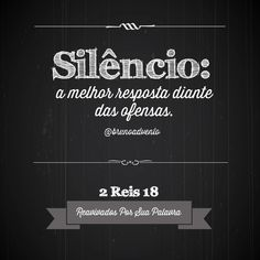 O silêncio também pode ser a resposta de Deus!                               …