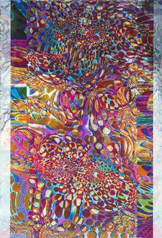 """Saatchi Online Artist: Allen Vandever; Ink, 2012, Mixed Media """"OpColor"""""""