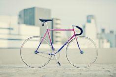 Pink/Purple Track Bike