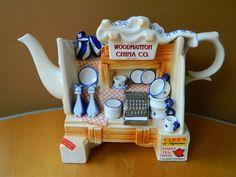 "Vintage Paul Cardew Miniature Teapot ""China Stall"" Made in England Teapots And Cups, Teacups, Teapot Cookies, Funky Decor, Tea Pot Set, Tea Art, Chinese Tea, Ceramic Teapots, Tea Service"