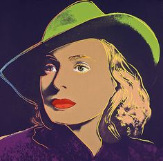 ANDY WARHOL [SOLD] Ingrid Bergman, 1983 (#315) unique trial-proof hand-signed screenprint