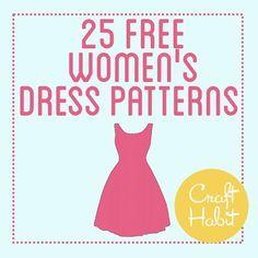 Top 25 Free Dress Patterns Frauenkleidung Anleitung Nähen