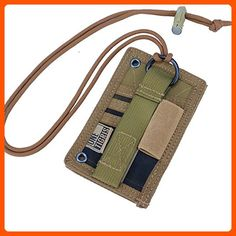 OneTigris Tactical ID Card Holder Hook & Loop Patch Badge Holder Neck Lanyard Key Ring and Credit Card Organizer (Coyote Brown) - Little daily helpers (*Amazon Partner-Link)