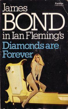 Diamonds Are Forever - James Bond Book Covers James Bond Movie Posters, James Bond Books, Casino Royale, George Lazenby, Bond Series, James Bond Style, Timothy Dalton, Pierce Brosnan, Bond Girls