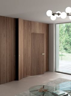 Hinged flush-fitting door TABULA by Ghizzi & Benatti #wood #boiserie