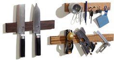 Magnetic knife holder available in wood knife strip or knife block Magnetic Knife Blocks, Magnetic Knife Holder, Best Knife Sharpener, Knife Storage, Wood Knife, Good House, Wooden Bar, Survival Knife, White Oak