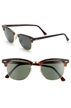69d8f651f53 Ray-Ban Classic Clubmaster 51mm Sunglasses