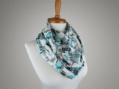 Handmade Blue Marble Print Infinity Scarf from maxandrosie.co.uk