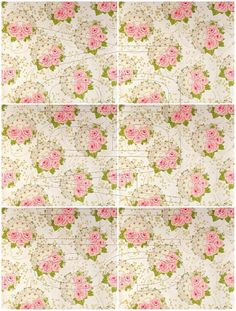 Shabby Chic digital  collage sheet Floral for scrapbook and cards  DC623 by…