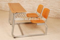 SF-1067,Double School desk and chair set for double person two seats,Secondary School Bench