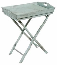 Butler Tray Table, Dusty Aqua