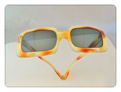 FUNKY Mod '60s Faux Tortoise WIDE Rectangle Lens & Frame SUNGLASSES -…