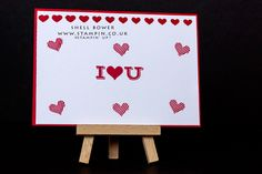 Stampin' Up! I love you card