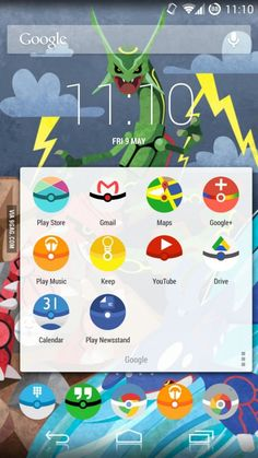 Android icon pack that changes all your icons to Pokéballs! I want thissssss