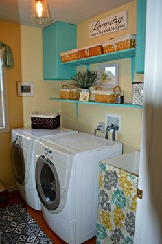 exactly what I was thinking for the Laundry Room Makeover !