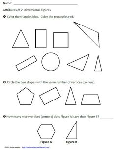 Math Coachs Corner: Focusing on Geometric Attributes. How do we assess geometric attributes?
