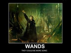 Wands could be more sonic. Ah, Barty Crouch, you... XP