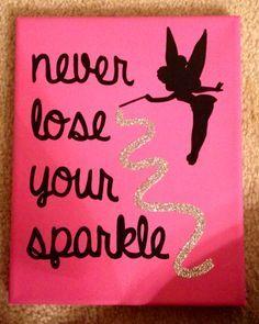 Sorority crafts- Disney tinkerbell canvas