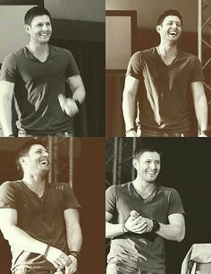 Jensen laughing