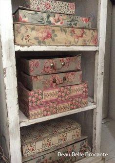 pretty craft room storage boxes