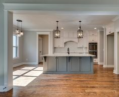 Gauntlet Gray paint color SW 7019 by Sherwin-Williams. View interior and exterior paint colors and color palettes. Grey Kitchen Walls, Grey Kitchen Island, Kitchen Colors, Grey Walls, Kitchen Ideas, Kitchen Designs, Kitchen Cabinets, Repose Gray Paint, Sw Repose Gray