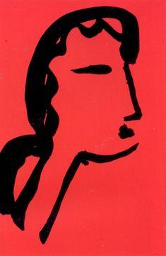 Face - Flower by Henri Matisse