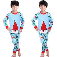 Baby Girl Boy Christmas Outfits Santa Claus Suit Nightwear Girls Pajamas Set Kids Children Sleepwear Clothes(China (Mainland))
