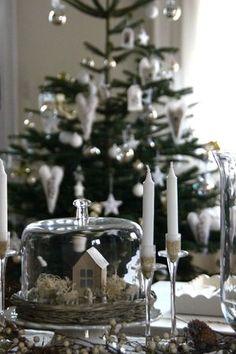 sweet nativity under cake dome