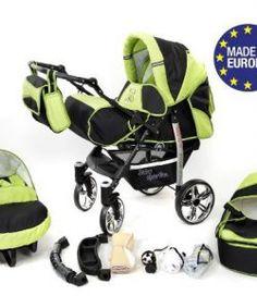 Baby-sportive-x2-3-in-1-kombikinderwagen-set-incl-kinderwagen-mit ... Beige Und Grn