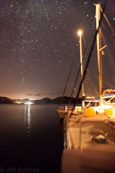 https://flic.kr/p/8F87Sr | Quiet Night Near Bozborun | Nevet, Che L'inse and other boats on the OCSC flotilla, anchored under the Milky Way.