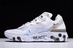 d750adbd396d 2018 Off-White x Undercover x Nike React Element 87 White Cone Ice Blue For